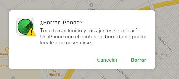 borrar archivos iphone robado