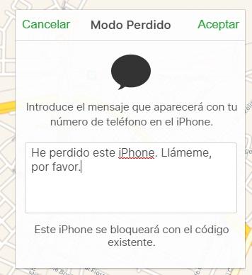 movil iphone perdido