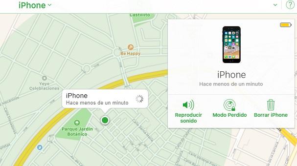 buscar mi iphone icloud